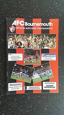 Bournemouth V Middlesbrough 1991-92