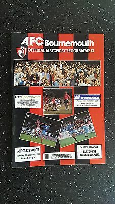 Bournemouth V Middlesbrough 1991-92.