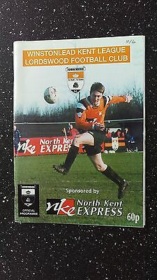 Lordswood V Crockenhill 1998-99