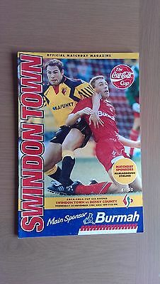 Swindon Town V Derby County 1994-95