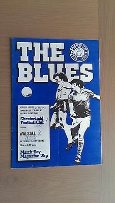 Chesterfield V Walsall 1980-81