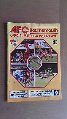 Bournemouth V Walsall 1988-89