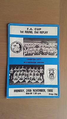 Chester City V Rotherham United 1986-87
