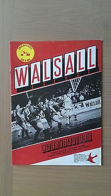 Walsall V Chesterfield 1986-87