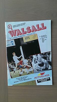 Walsall V Bournemouth 1988-89