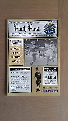 Peterborough United V Fulham 1990-91