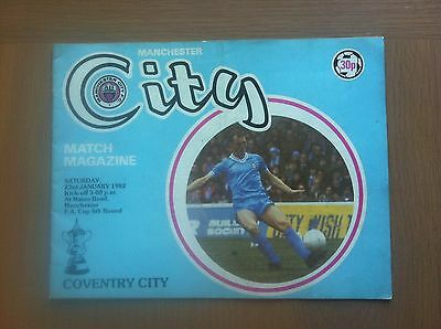Manchester City V Coventry City 1981-82