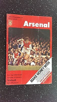 Arsenal V Walsall 1977-78