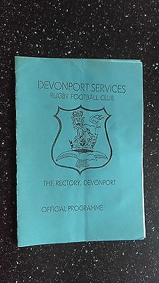 Devonport Services V Plymouth Albion 1980S?.