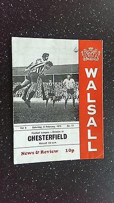 Walsall V Chesterfield 1974-75.