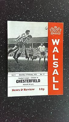 Walsall V Chesterfield 1974-75