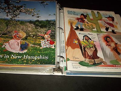 Lot 28 Annalee Catalogs in Binder 1990-92 Spirit of 1776 Christmas Holloween