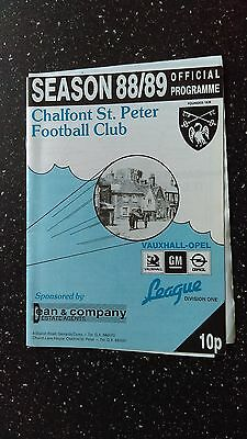 Chalfont St Peter V Bromsgrove Rovers 1988-89