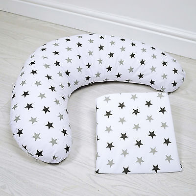 New 4Baby Silver Twinkle Pregnancy / Maternity Support Pack Cushion & Wedge