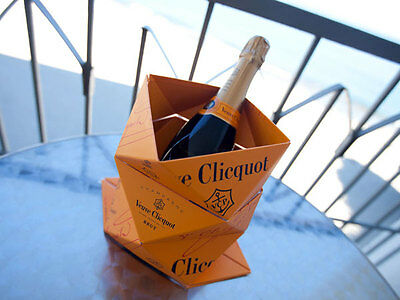 Champagne Veuve Clicquot Ponsardin Ice Bucket Clicq' Up Orange Foldable Bucket