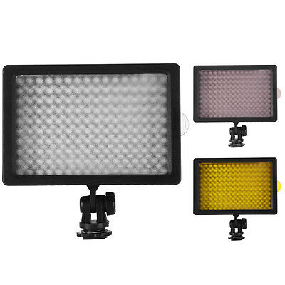 160 LED Video Light Lamp Panel Dimmable for Canon DSLR Camera Camcorder DV LF462