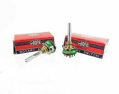 * Lot of 2 * NOS Alps M1C Rotary Switches - 1 Pole, 12 Position