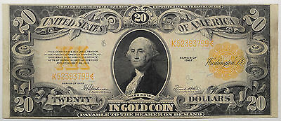 1922 $20.00 Gold Certificate, Fr-1187 Very Fine