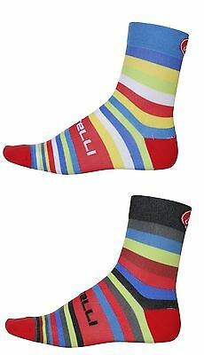 4 pairs CASTELLI  Striscia cycling socks