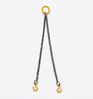2 CHAIN SLING 1.8MM - 12CM / YELLOW  / 1:50 Scale By YCC 313-Y