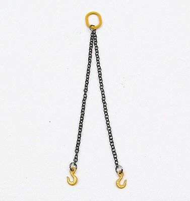 2 CHAIN SLING 1.2MM - 10CM / YELLOW  / 1:50 Scale By YCC 307-Y
