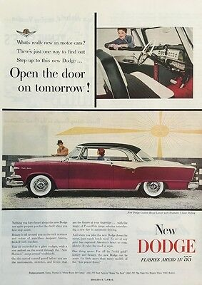 1955 Dodge Custom Royal Lancer Big 11x14 Vintage Advertisement Print Car Ad LG32