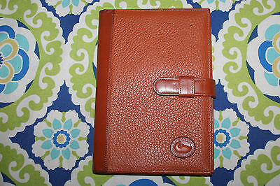 Vintage Dooney & Bourke Brown All Weather Leather Agenda Notebook Planner