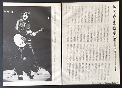 1988 Johnny Thunders JAPAN magazine article / press clippings cuttings photo t4r