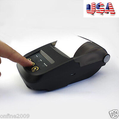 Handheld Bluetooth Wireless Printer IOS/Android POS 58mm Bluetooth Mobile US