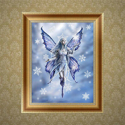 DIY 5D Diamond Embroidery Painting Butterfly Fairy Cross Stitch Craft Home Decor