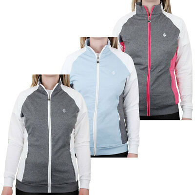 33% OFF RRP Island Green 2017 Ladies Contrast Raglan Full Zip Golf Jacket