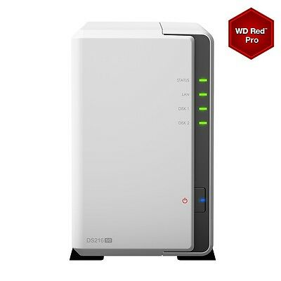 DS216SE/8TB-RED Synology DS216se/8TB-RED 2 Bay NAS - DS216SE/8TB-RED  (Storage >