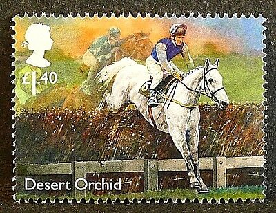 "Racehorse Legend ""Desert Orchid"" illustrated on 2017 stamp - Unmounted mint"