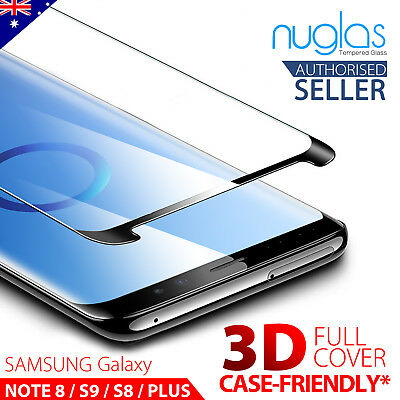 NUGLAS Samsung S9 S8 S8+ Plus Note 8 Tempered Glass Full Cover Screen Protector