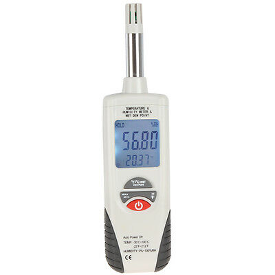 -22℉ to 199℉ Digital Humidity and Temperature Meter with Wet Bulb / Dew Point