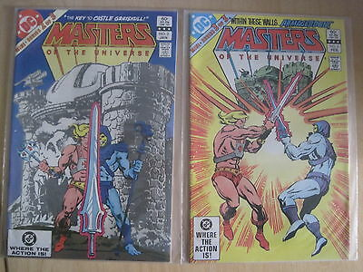 MASTERS of the UNIVERSE #s 2 & 3 (of 3). SKELETOR, HE-MAN. TV SERIES. DC.1983