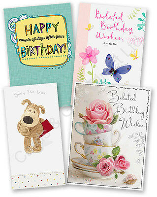 Happy Belated Birthday Wishes Late Sorry Oops Boofle Greeting Card