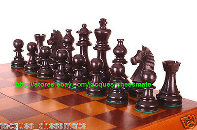 New German Knights Ebonized Staunton Wooden Chess Set - Free Shipping!!!!