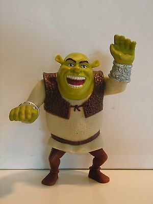 Shrek: Movie Figurine Mcdonalds Happy Meal Toy Moveable Arms 4 ½ Inches Tall