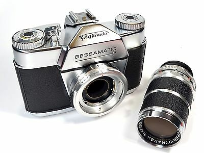 RARE VOIGTLANDER Bessamatic M c/w Super-Dynarex 135mm f4 Lens - Superb!!