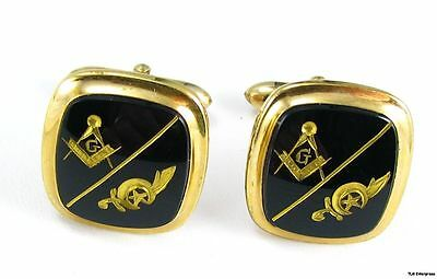 SHRINERS Masonic - 10k GOLD Vintage *NOS* CUFF LINKS