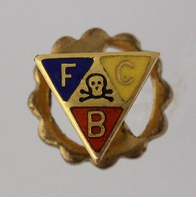 Knights of Pythias - Vintage Enamel Triangle Crest Member Small Lapel Pin
