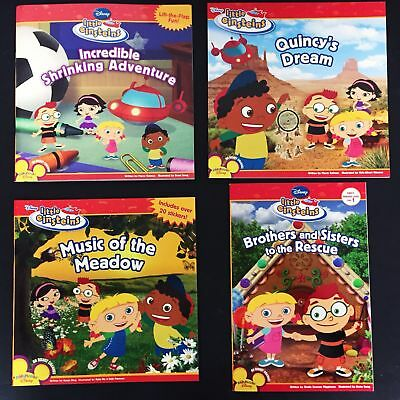 Disney's Little Einsteins, lot of 4 paperbacks, Shrinking/Quincy/Meadow, NEW