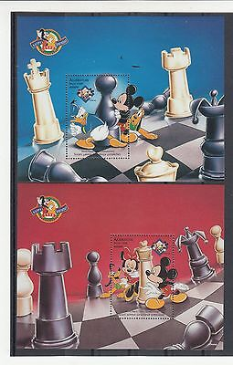 Azerbaijan;1998 Mickey Mouse.Chess Championship set of 3 MSs.SG440-MS449.MUH/MNH