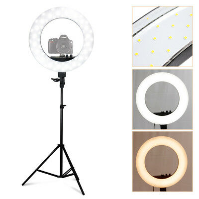 "5500K 240PCS 18"" LED SMD Ring Light Dimmable LED Lighting Video Light Stand"