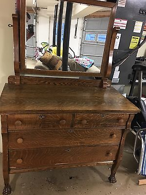 Antique Clawfoot Oak Dresser Price Lowered