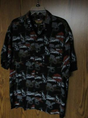 Official Men's Harley-Davidson 100% Rayon shirt size large VGC Hawaiian style