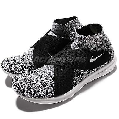 aa85287d8ee7c Nike Free RN Motion FK 2017 Run Flyknit Grey Black Men Running Shoes 880845- 001