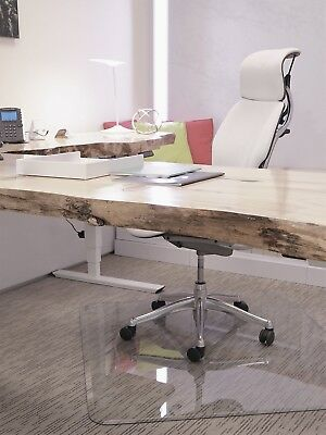 """Clearly Innovative Glass Chair Mats For Home or Office w/ Beveled Edge 46"""" x 46"""""""