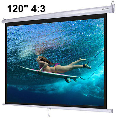 "Instahibit 120"" 4:3 Manual Pull Down Ceiling Projector Screen 27701"